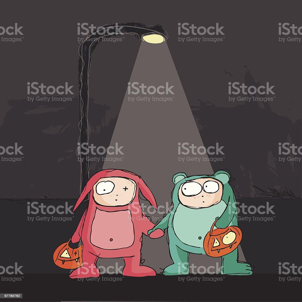 halloween humiliation vector art illustration