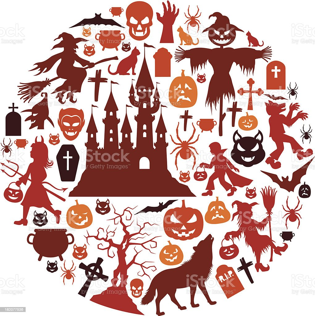 Halloween Icon Collage royalty-free stock vector art