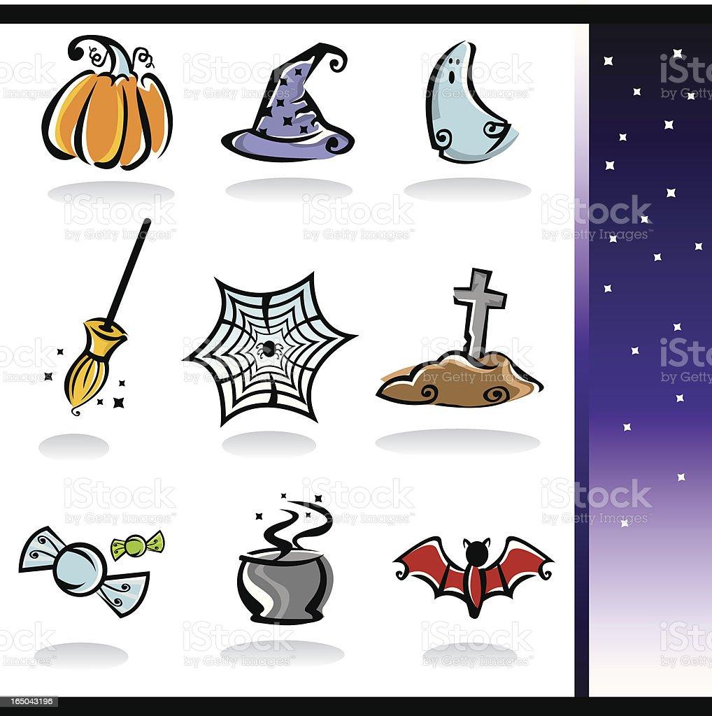 Halloween Icon Set royalty-free stock vector art