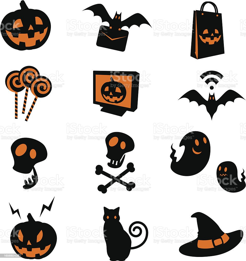 Halloween Icon Set royalty-free stock vector art
