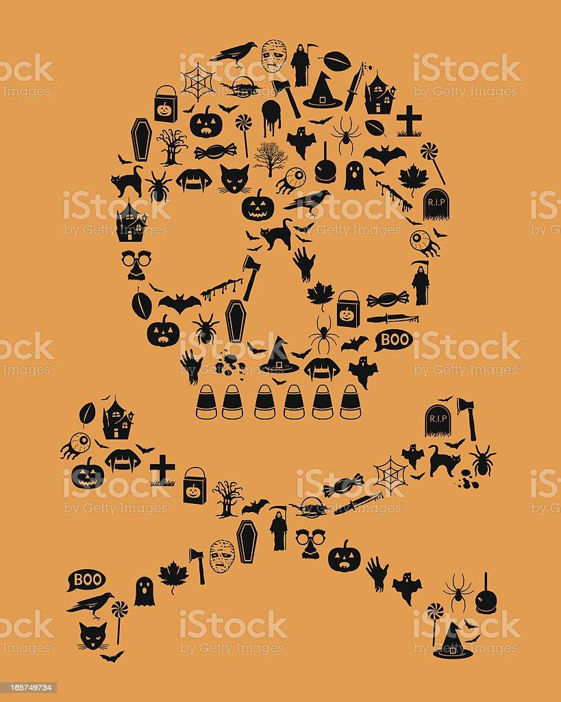Halloween Icon Skull royalty-free stock vector art