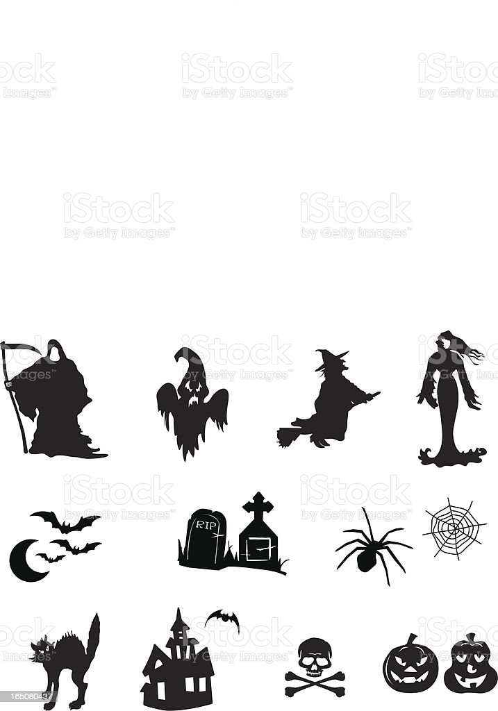 halloween icons and symbols royalty-free stock vector art