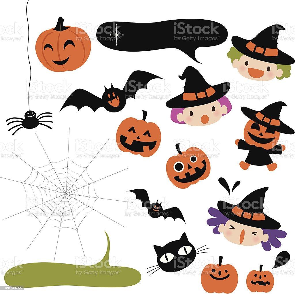 Halloween Icons Design Element vector art illustration