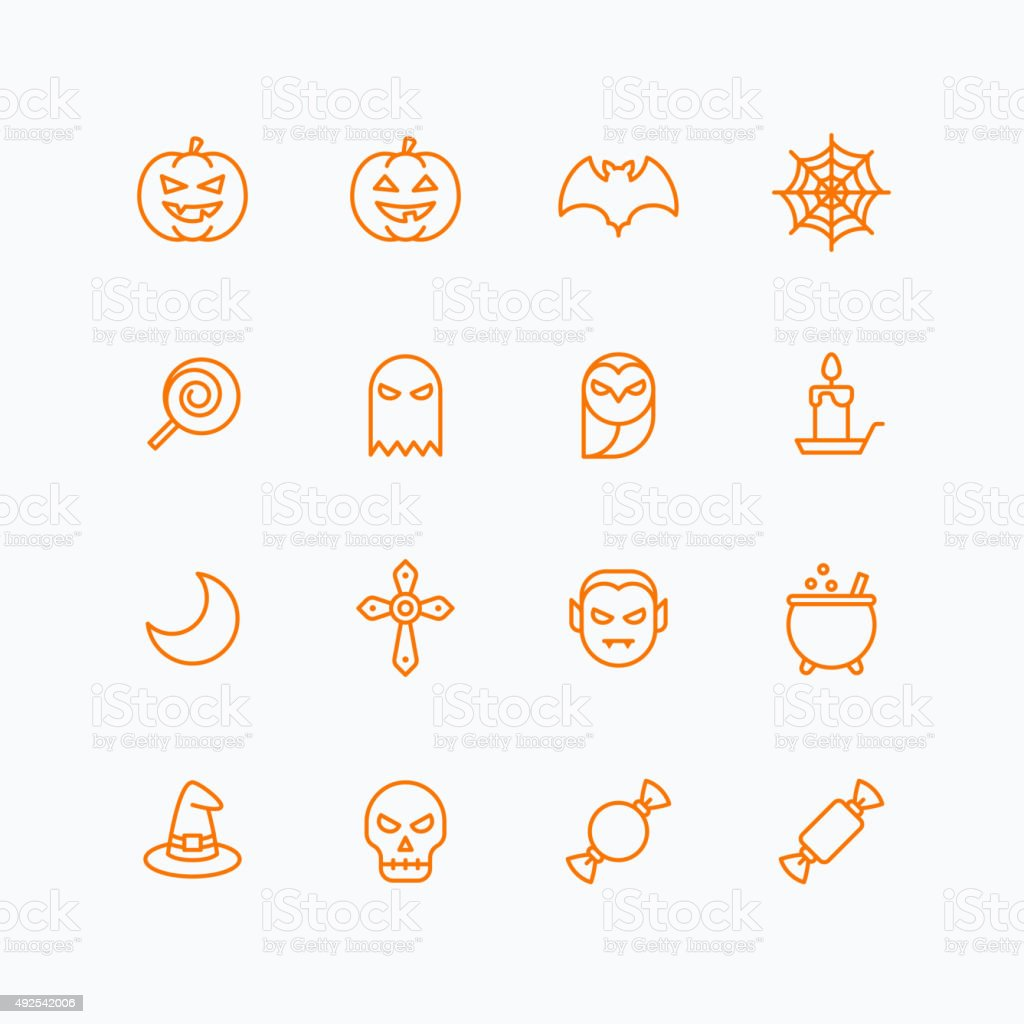 Halloween icons for web and mobile vector art illustration