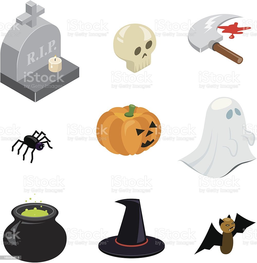 Halloween icons | ISO collection royalty-free stock vector art