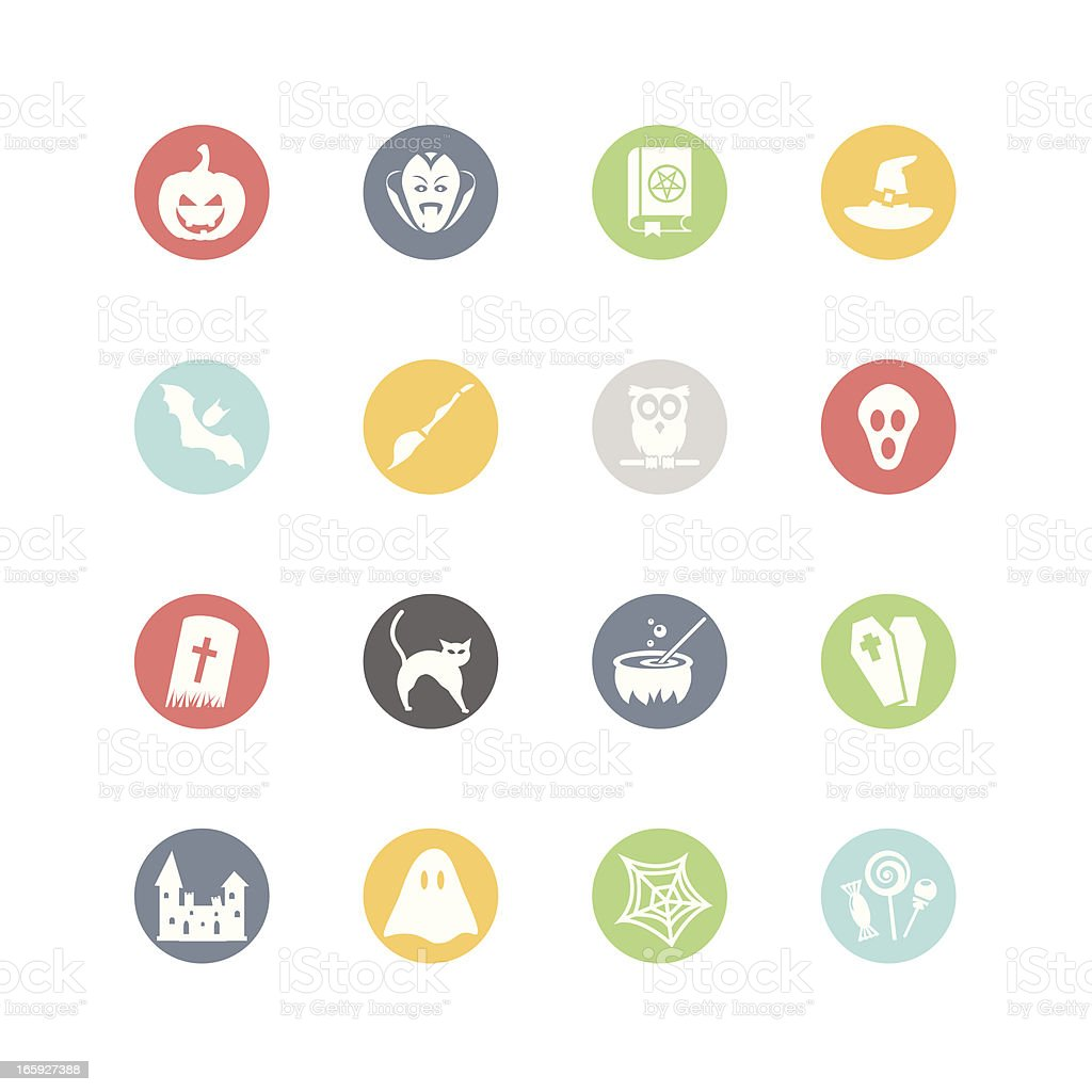 Halloween Icons : Minimal Style royalty-free stock vector art