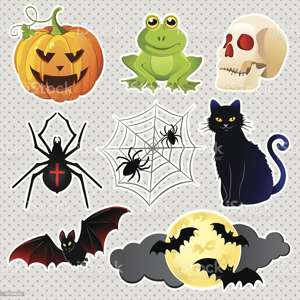 Halloween icons set royalty-free stock vector art