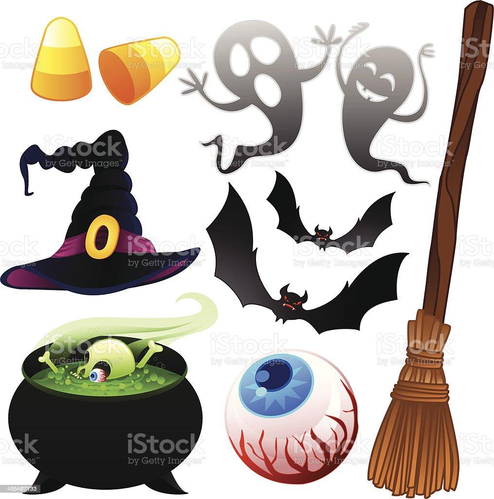 Halloween Icons Set Vector royalty-free stock vector art