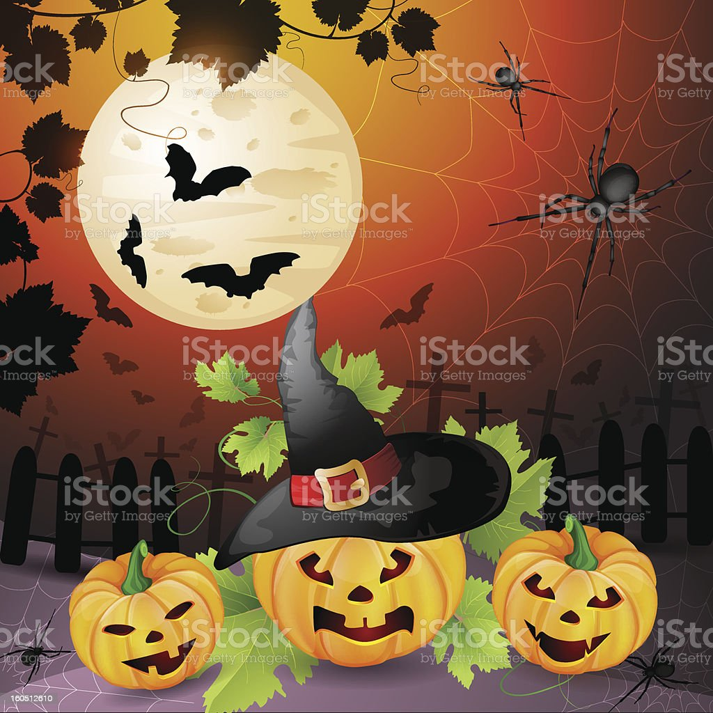 Halloween illustration royalty-free stock vector art