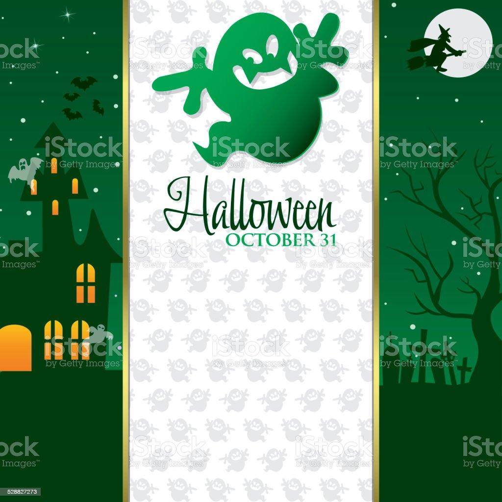 Halloween invitation card in vector format. vector art illustration