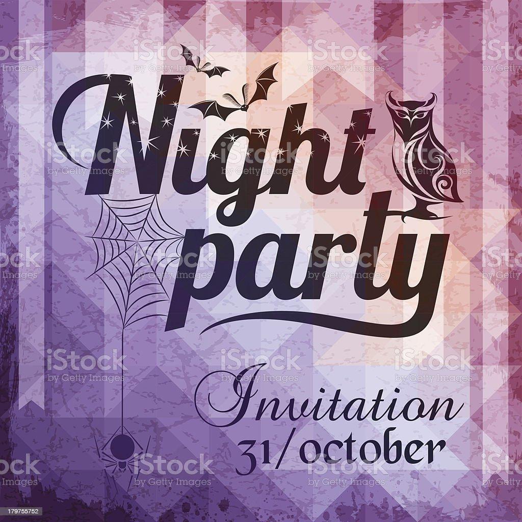 Halloween invitation card royalty-free stock vector art