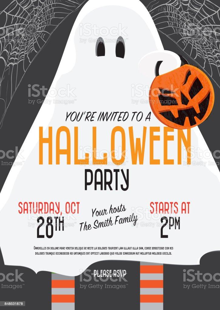 Halloween Invitation template design vector art illustration