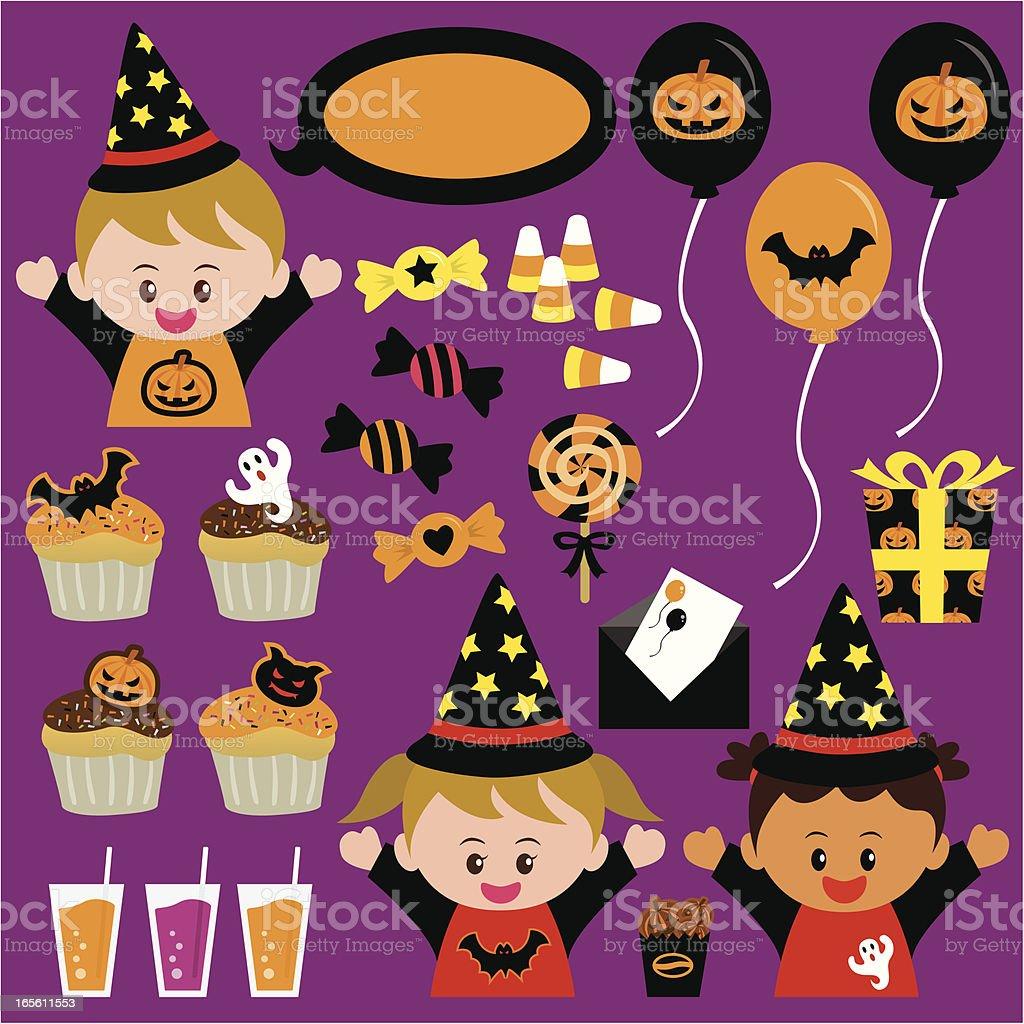 Halloween kid party royalty-free stock vector art