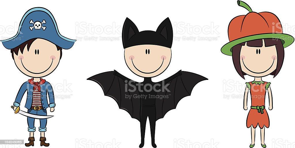 Halloween kids royalty-free stock vector art