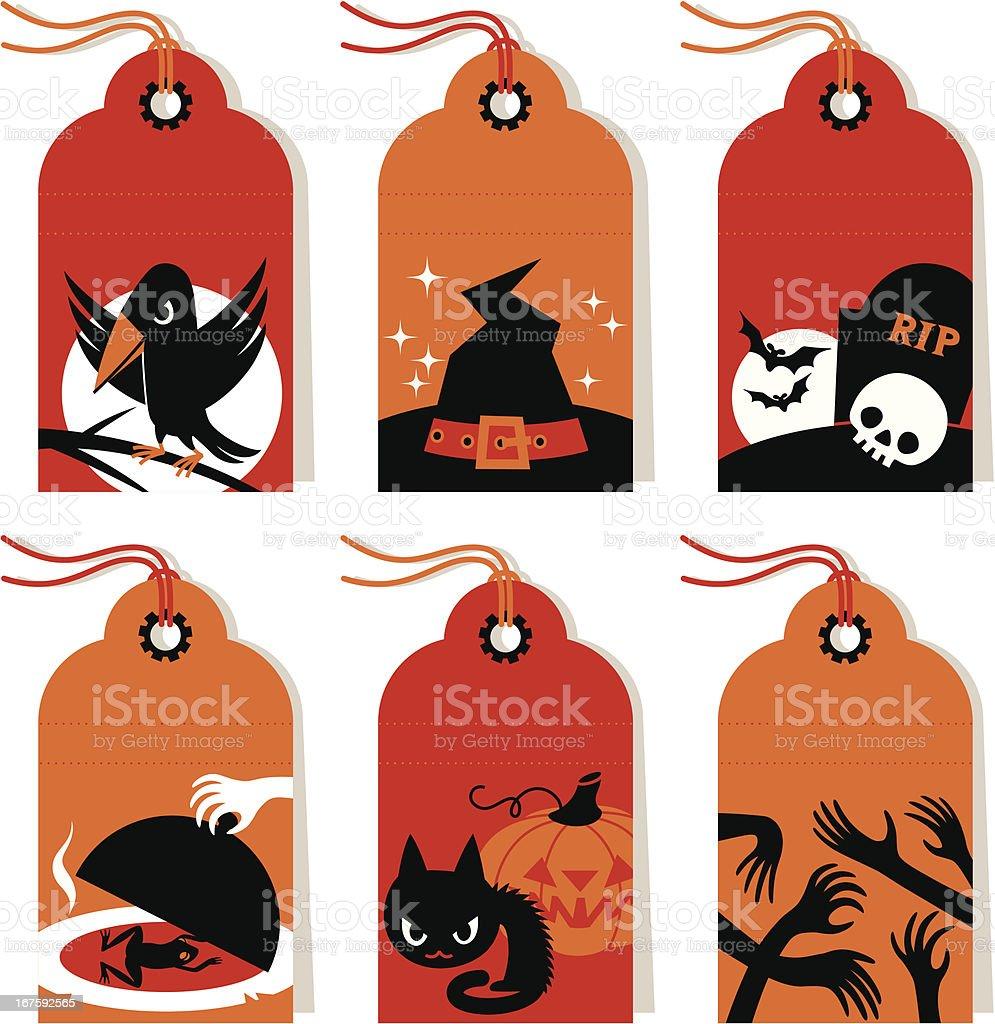Halloween Labels. vector art illustration