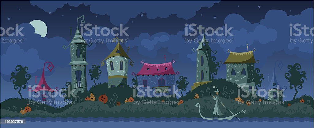Halloween magic background royalty-free stock vector art