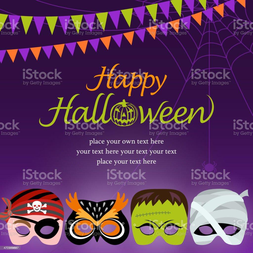 Halloween Masquerade Night royalty-free stock vector art