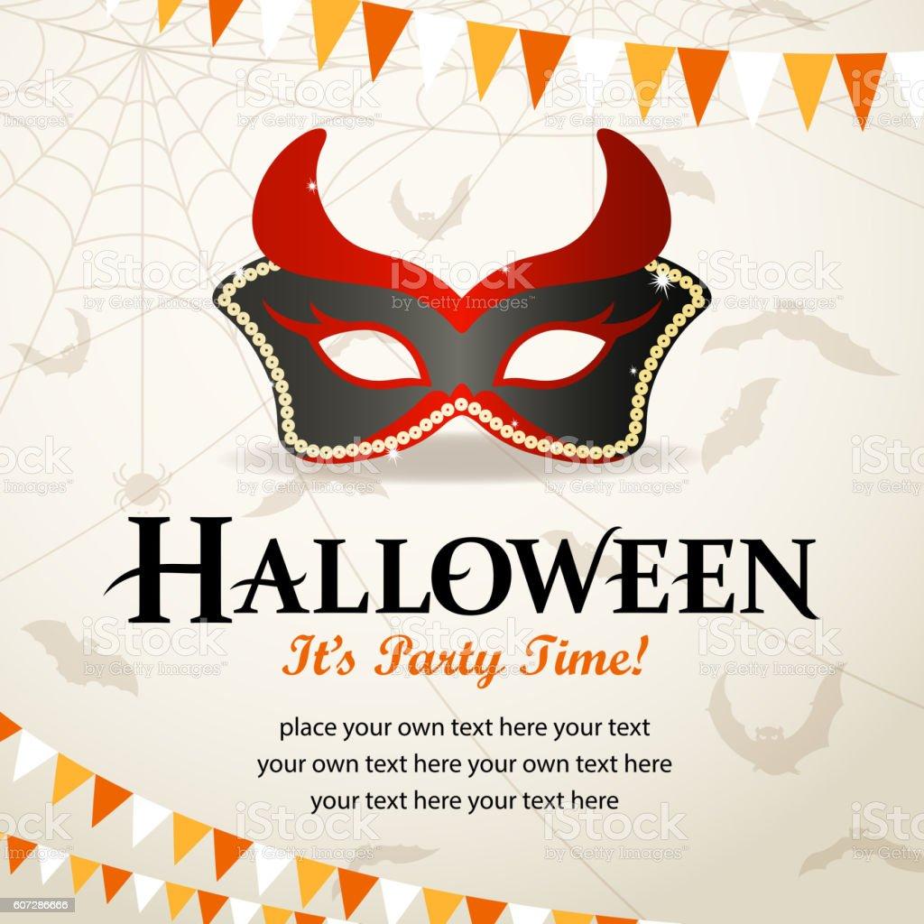 Halloween Masquerade Party vector art illustration