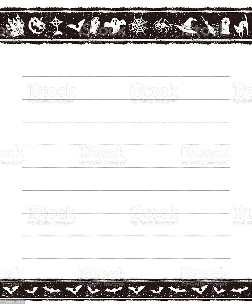 halloween memo pad design stock vector art 607924936 istock halloween memo pad design royalty stock vector art