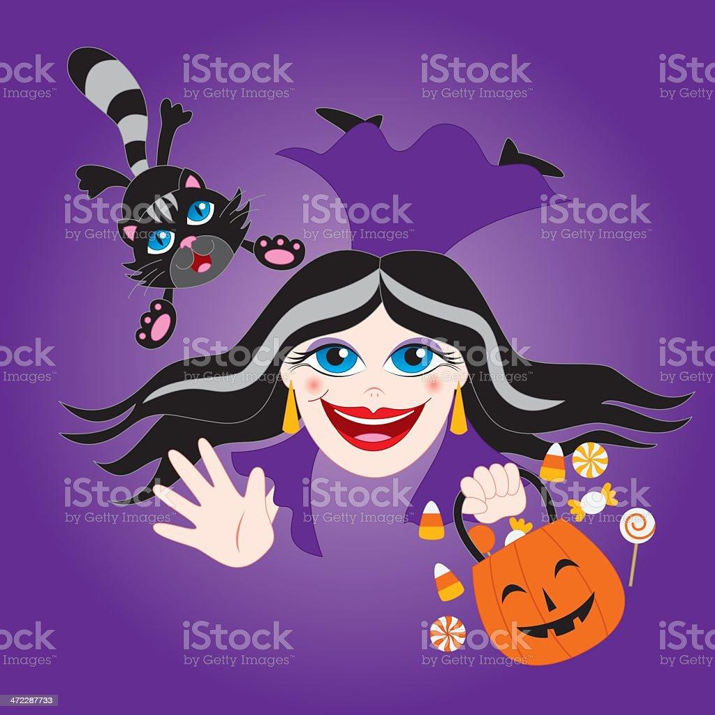 Halloween:  Morticia Addams royalty-free stock vector art