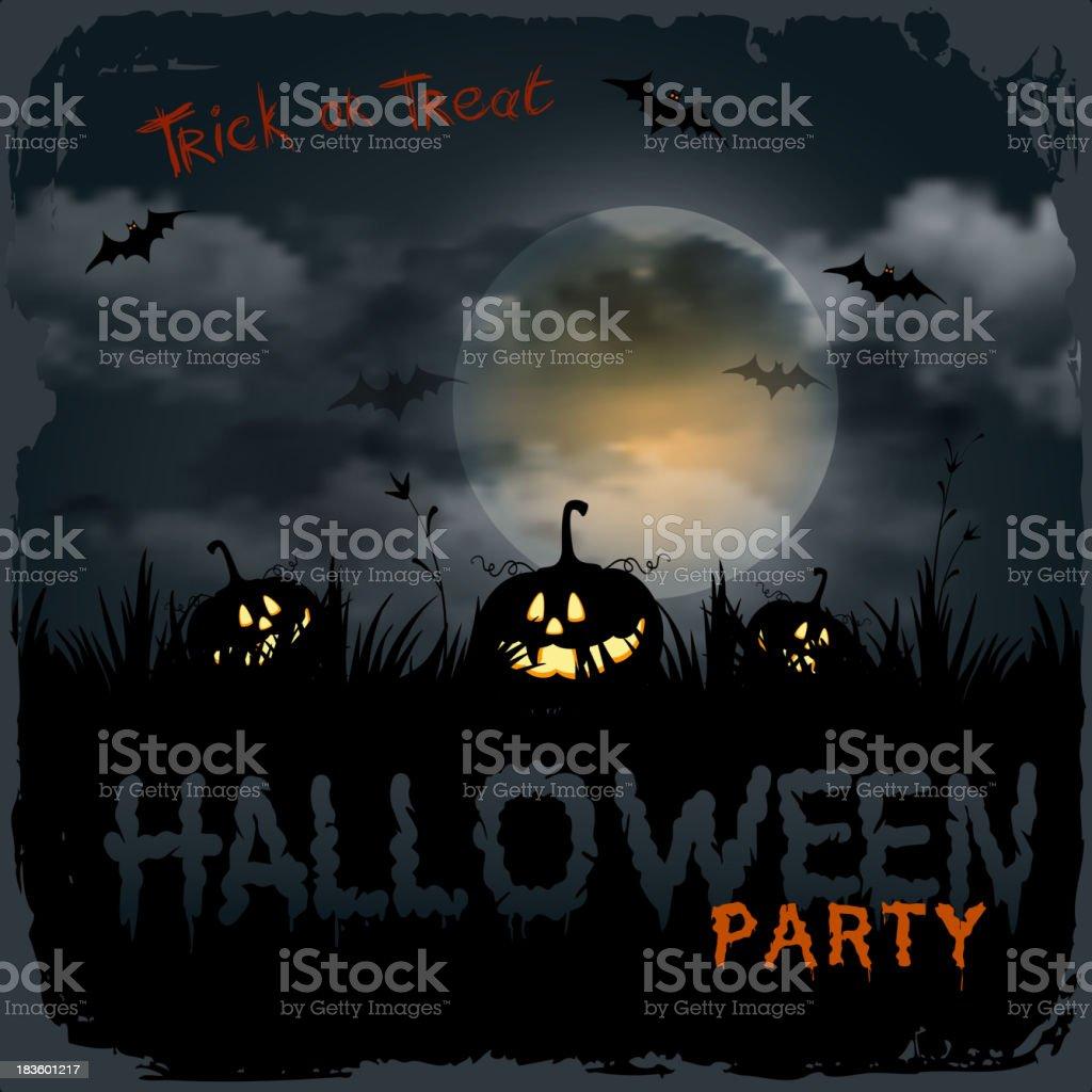 Halloween night background royalty-free stock vector art