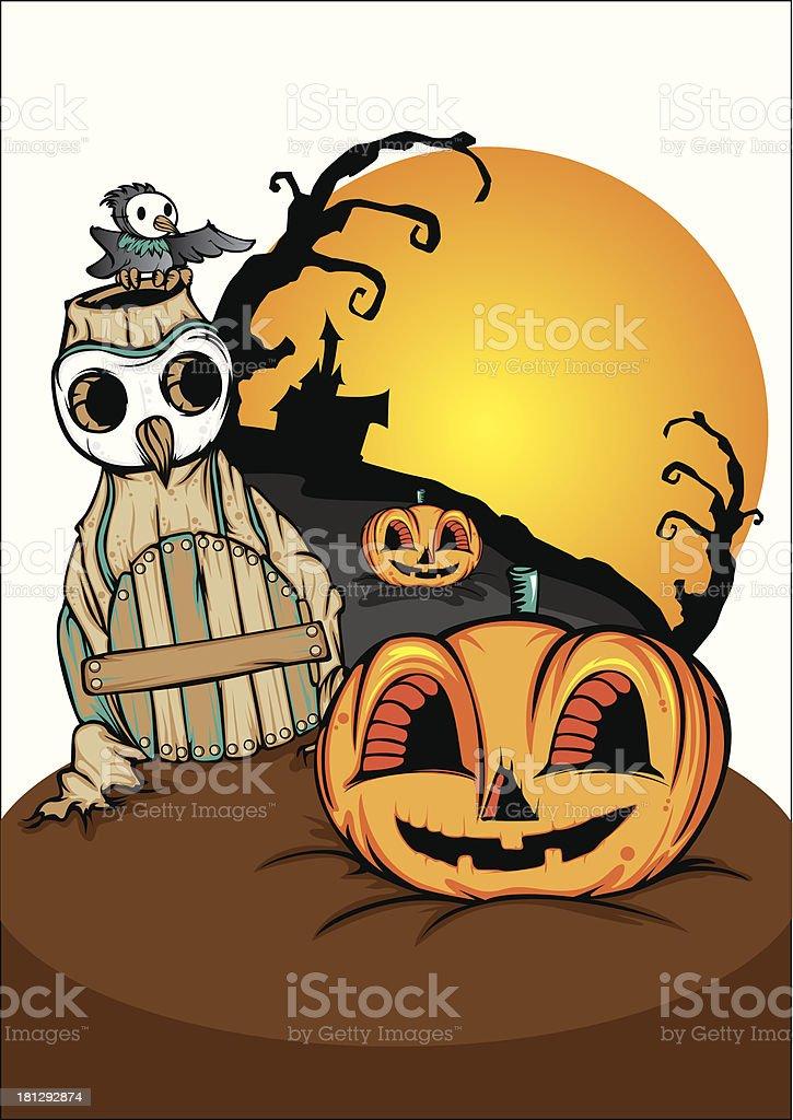 halloween night royalty-free stock vector art
