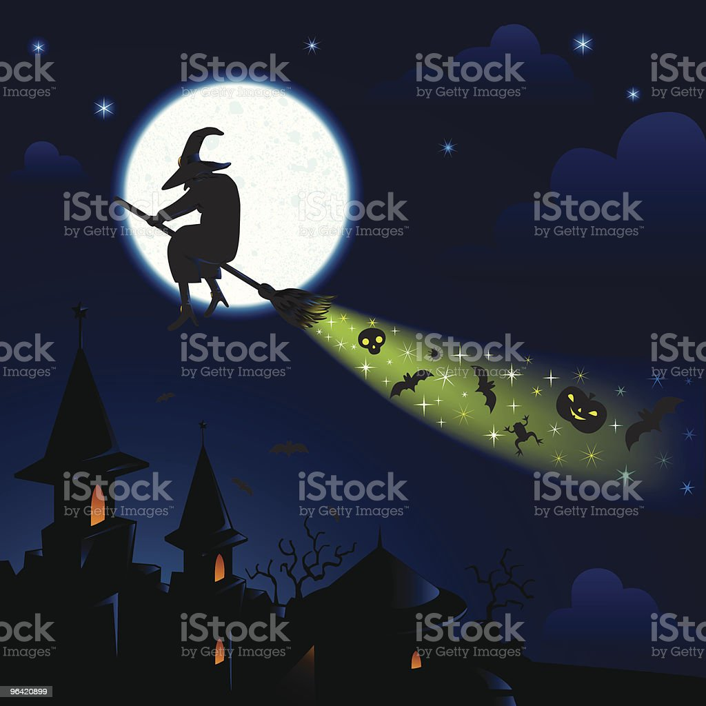 halloween night royalty-free stock vector art