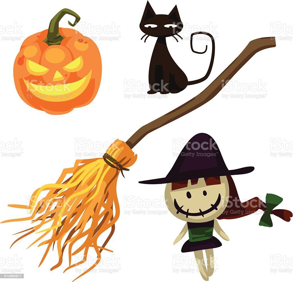 Halloween objects royalty-free stock vector art