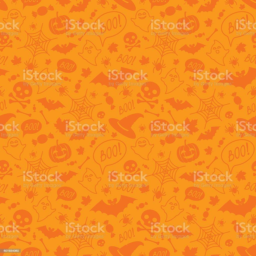 Halloween orange festive seamless pattern. royalty-free stock vector art