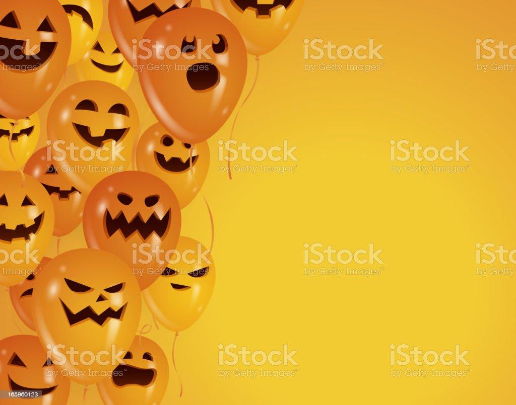 Halloween party balloons royalty-free stock vector art