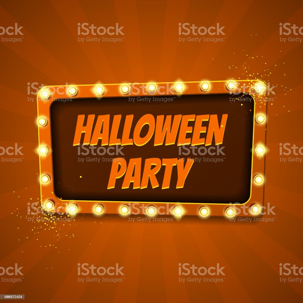 Halloween party banner royalty-free stock vector art