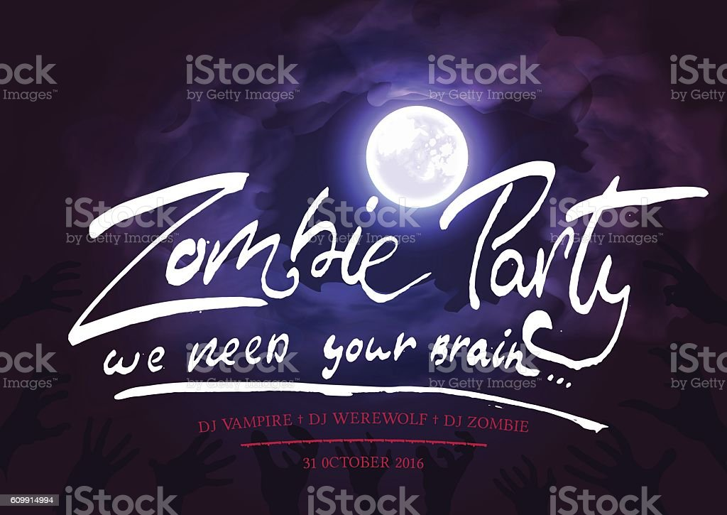 Halloween party bash invitation vector art illustration