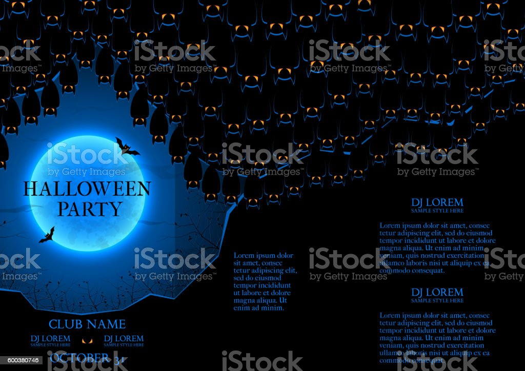 Halloween party booklet royalty-free stock vector art