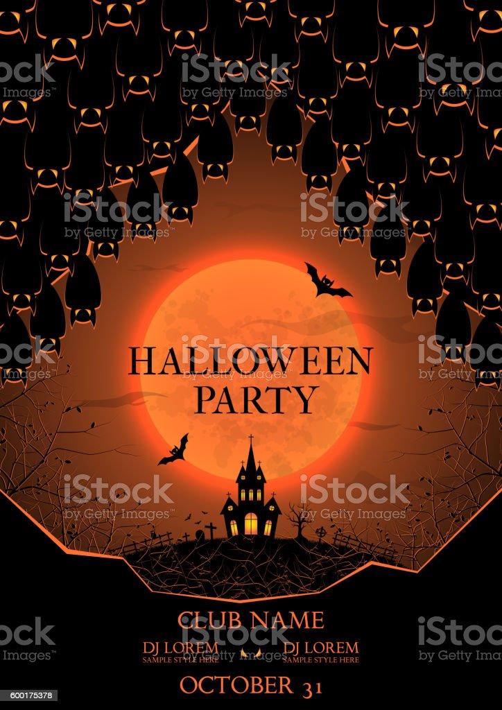Halloween party flyer royalty-free stock vector art