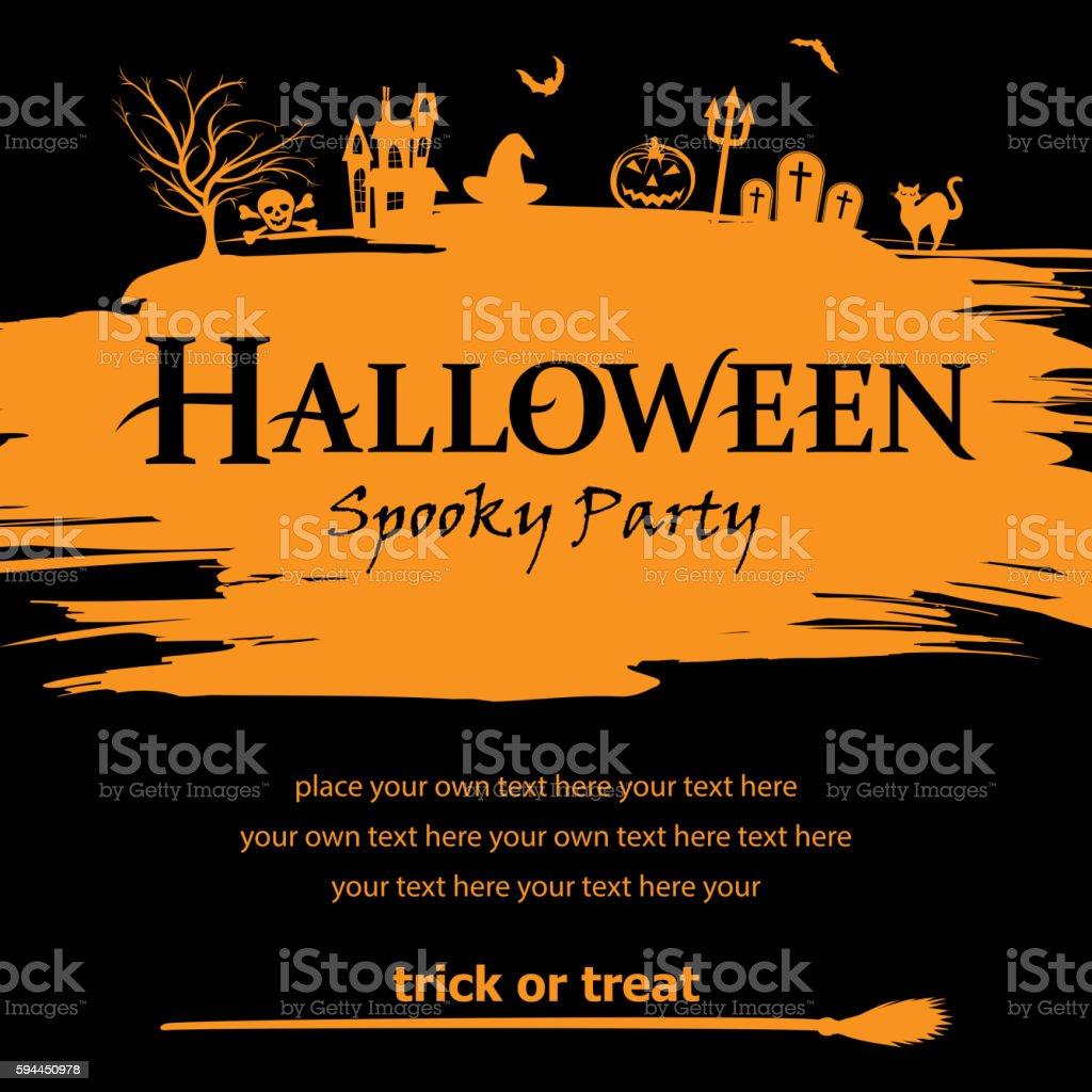 Halloween Party Invitation vector art illustration