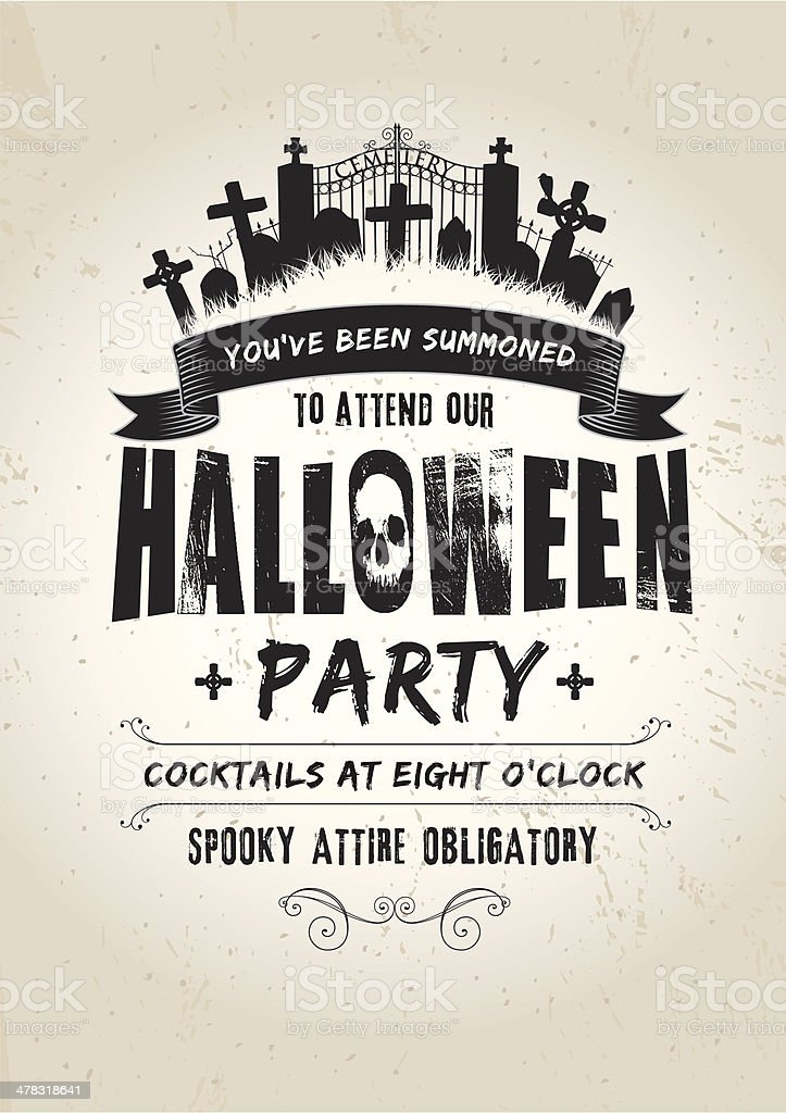 Halloween Party invite royalty-free stock vector art