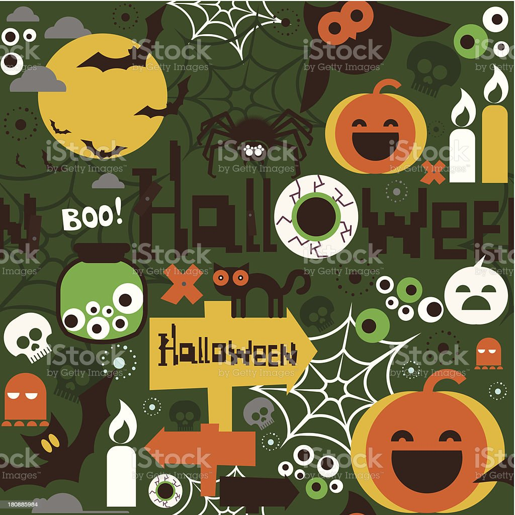 Halloween party pattern royalty-free stock vector art