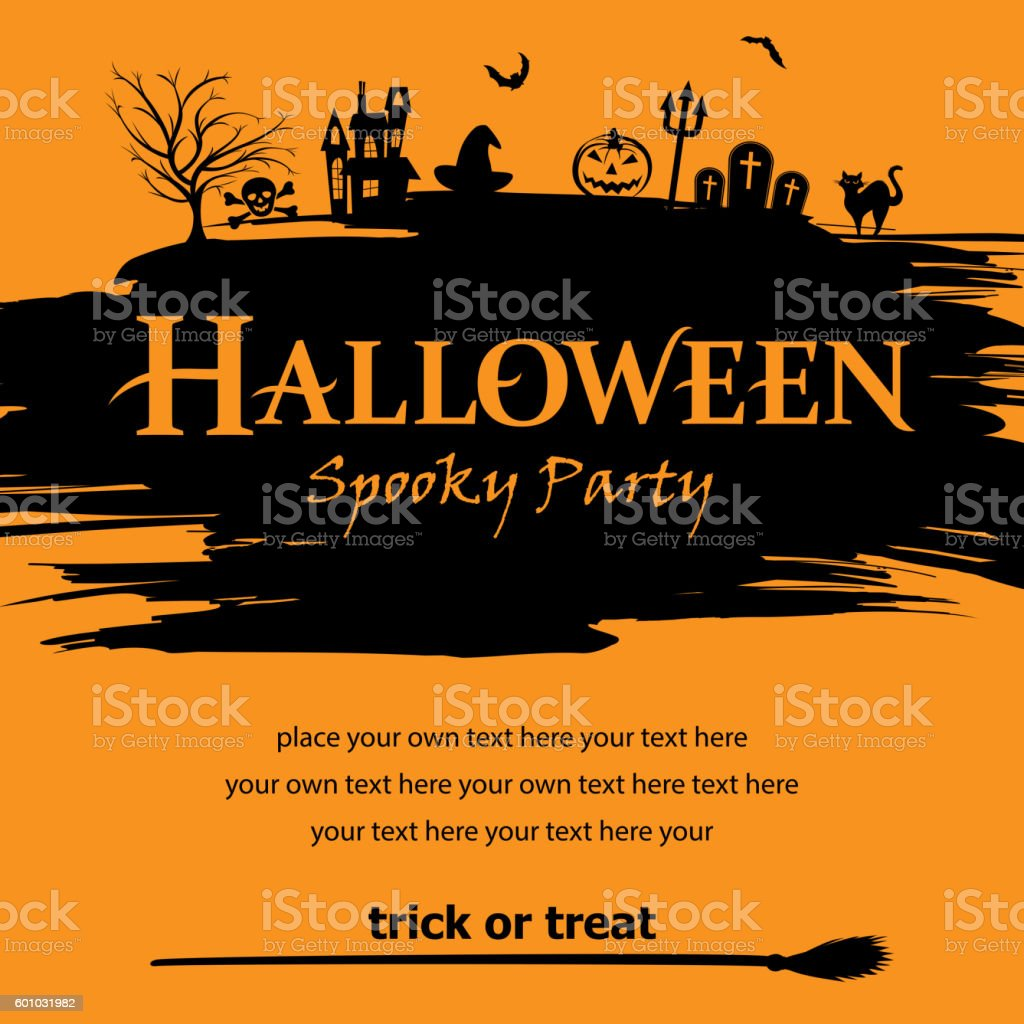 Halloween Party Poster vector art illustration
