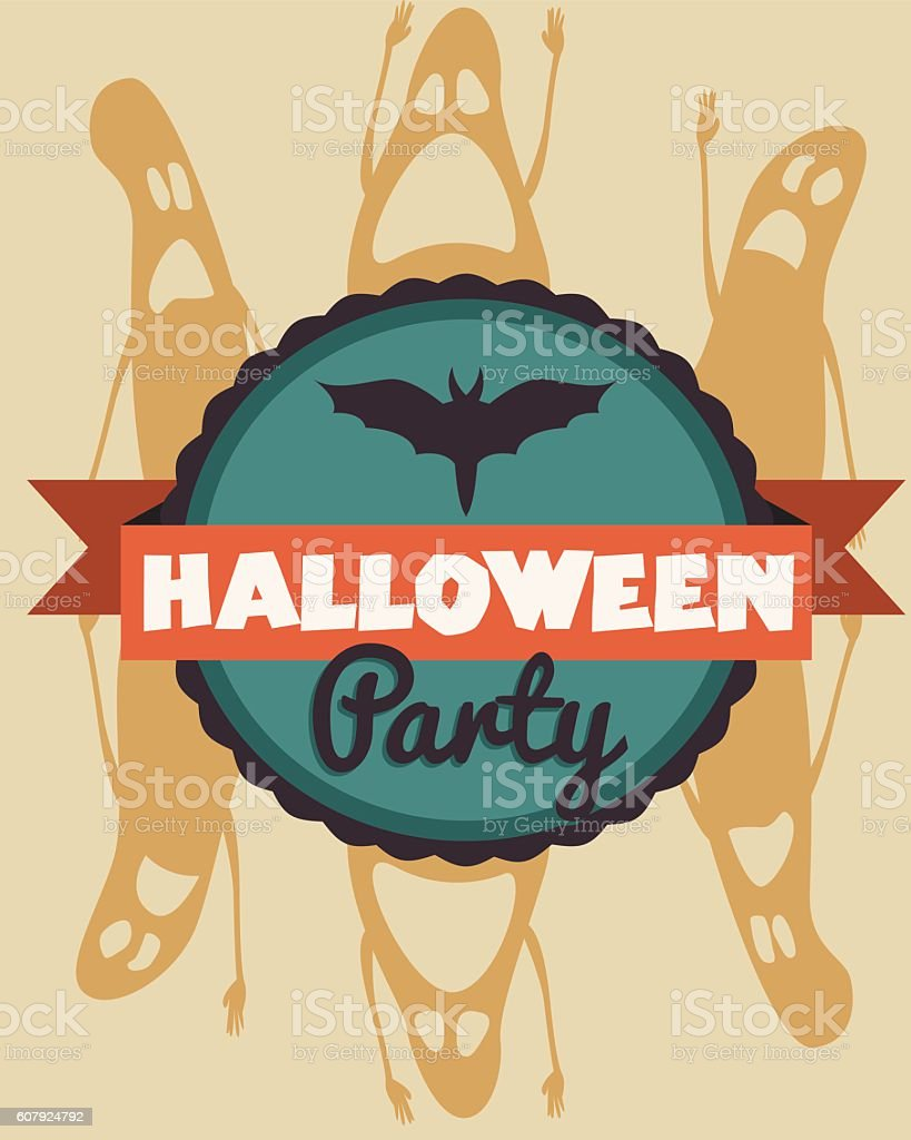 Halloween party Poster. Vector illustration. vector art illustration
