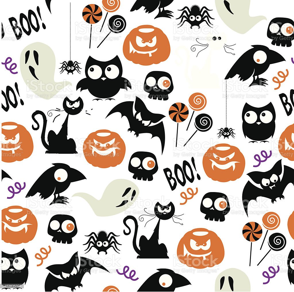 Halloween Party Repeat Pattern royalty-free stock vector art