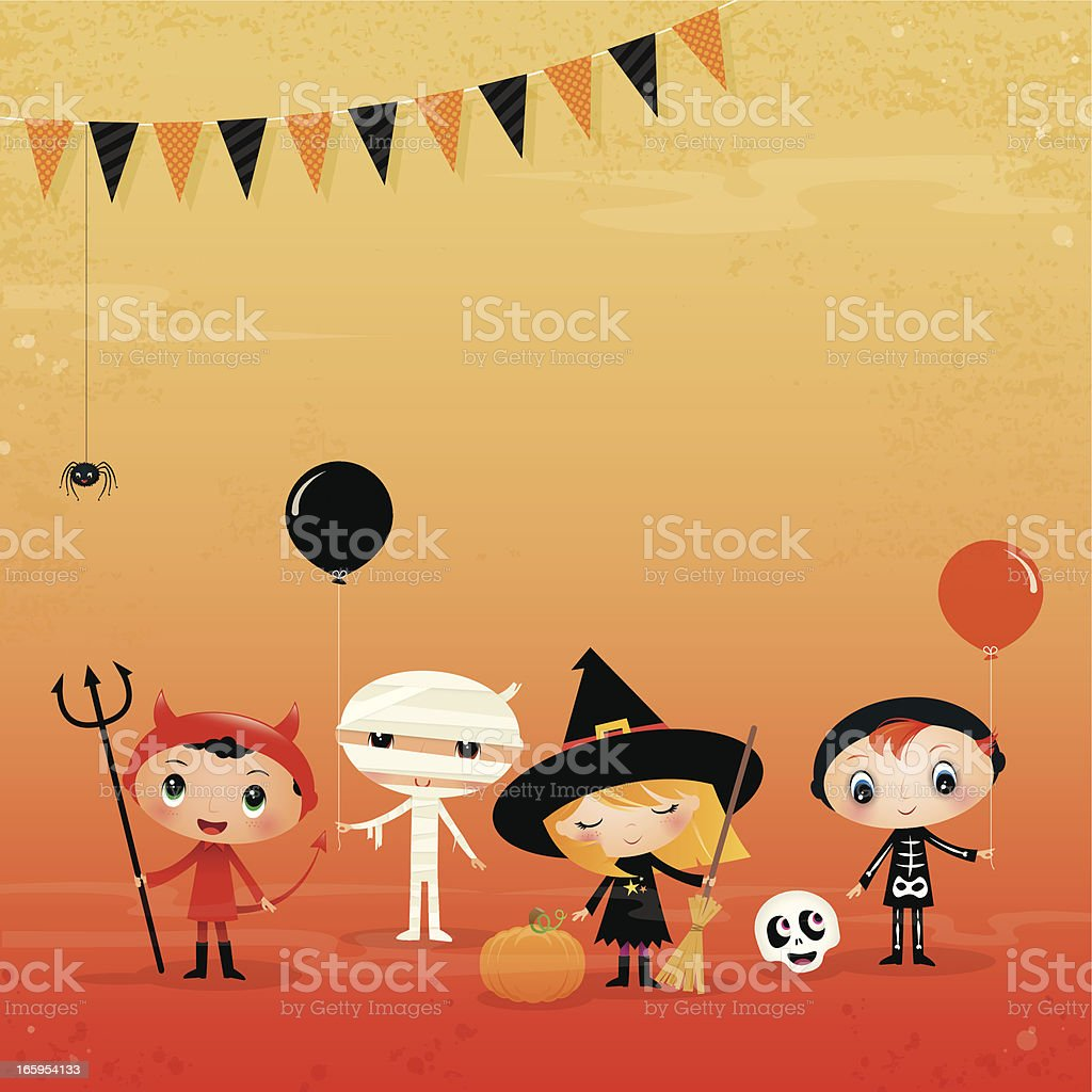 Halloween party royalty-free stock vector art