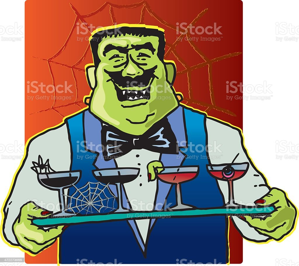 Halloween Party Waiter royalty-free stock vector art