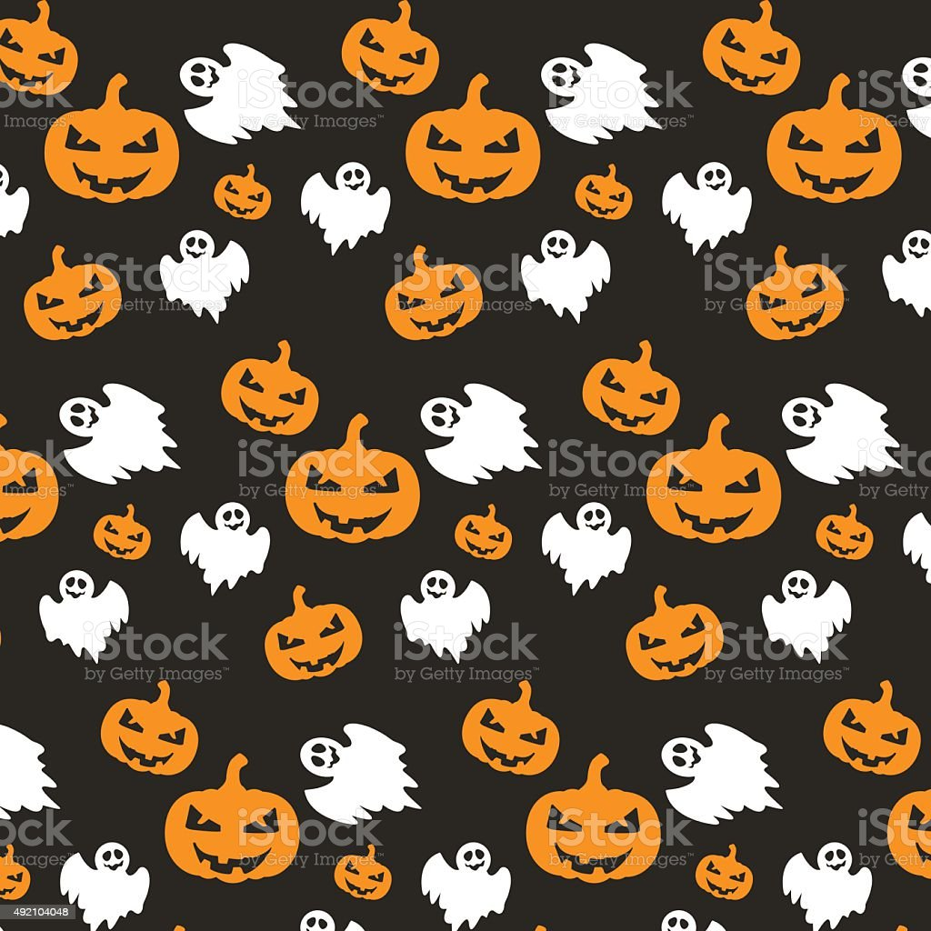 Halloween pattern vector art illustration
