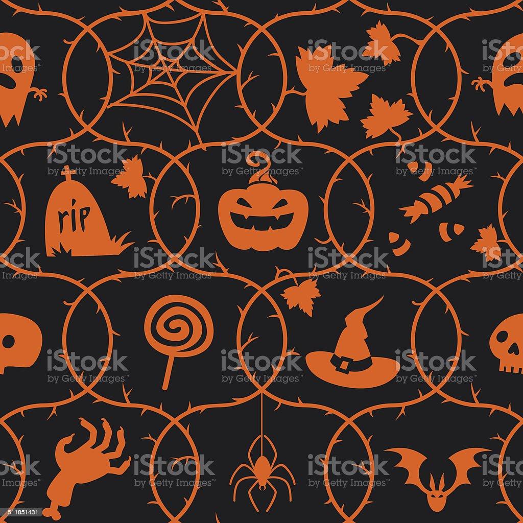 Halloween pattern. vector art illustration