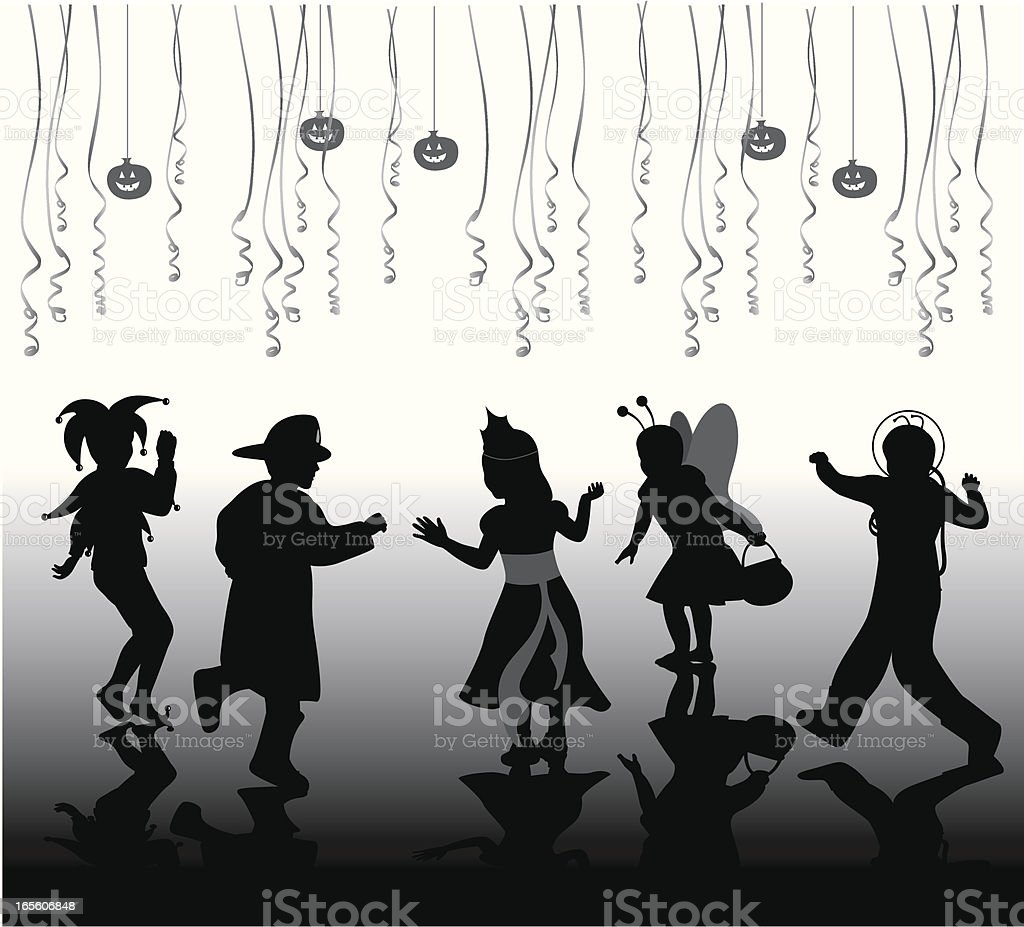 Halloween Peoples Vector Silhouette royalty-free stock vector art