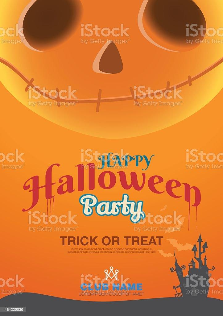 Halloween poster template. vector art illustration