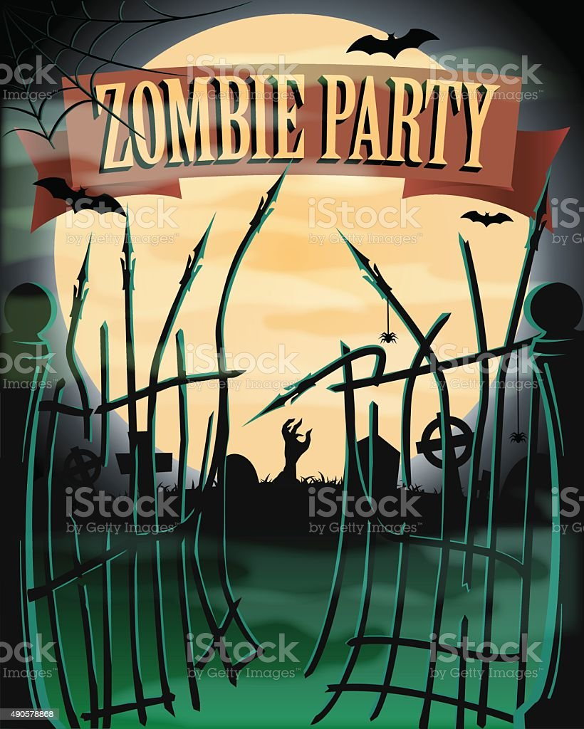 Halloween poster vector art illustration