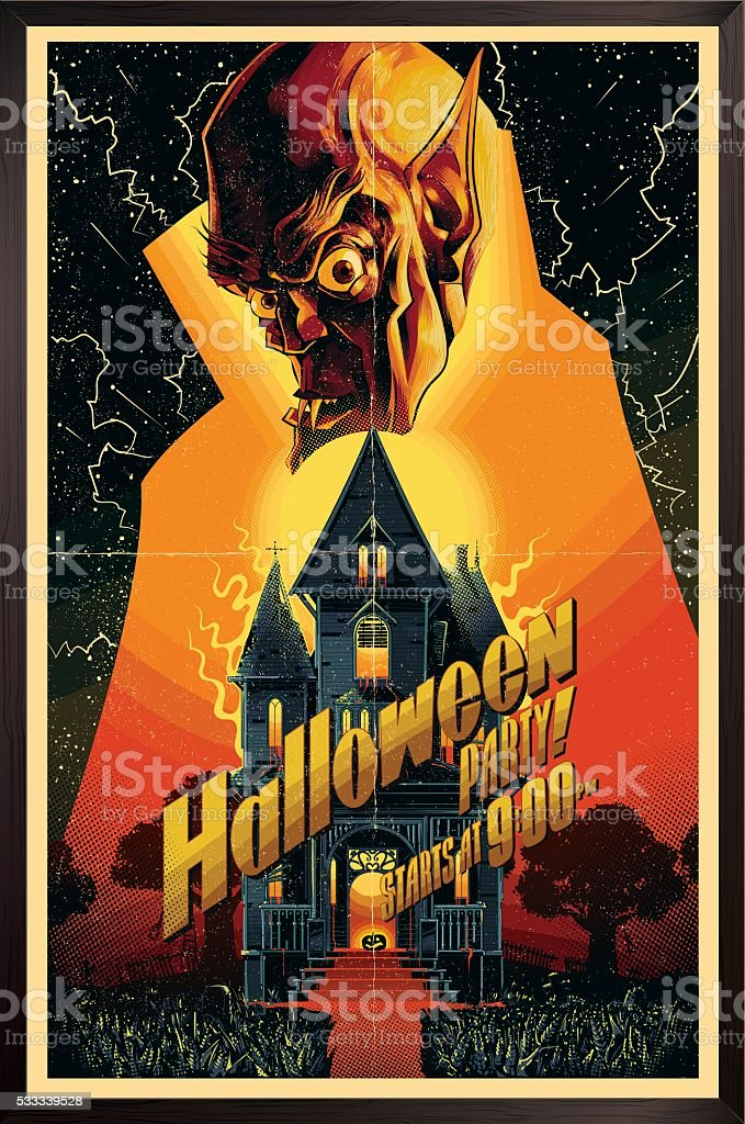 Halloween poster vector art illustration