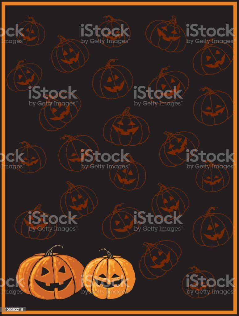 Halloween Pumpkin Background royalty-free stock vector art