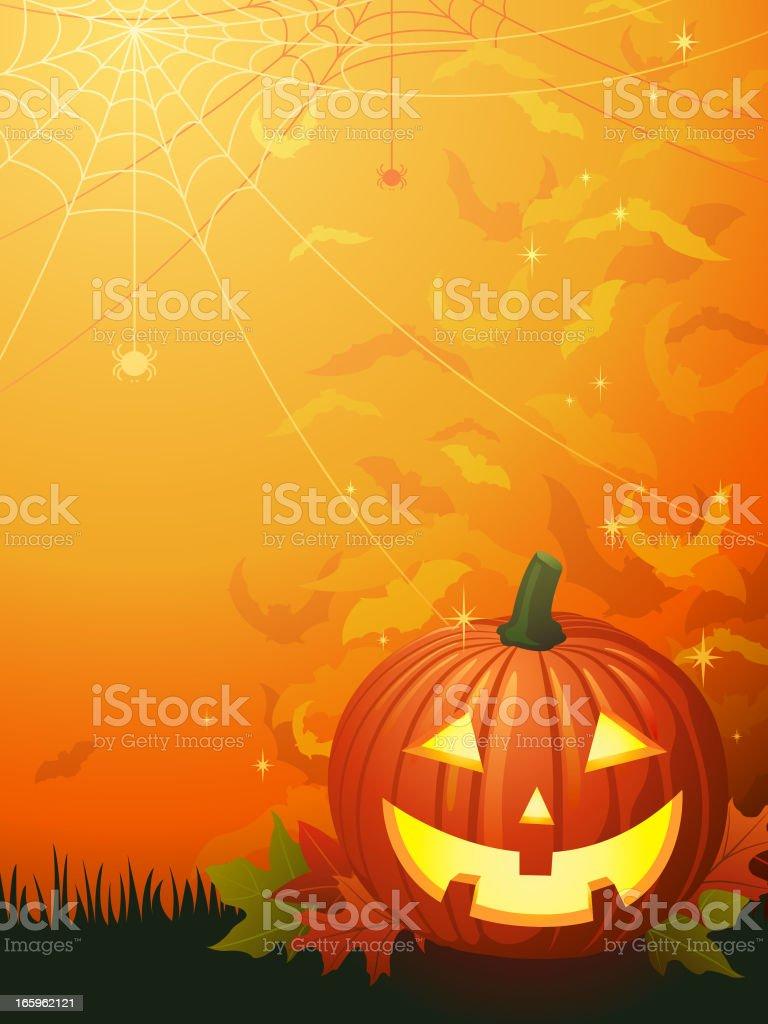 Halloween Pumpkin Background vector art illustration